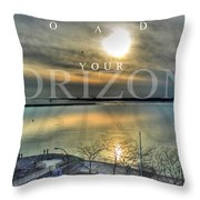 Thinking Outside The Box Throw Pillow