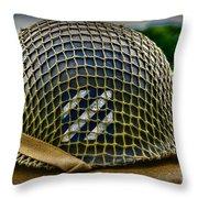 Third Infantry Division Helmet Throw Pillow