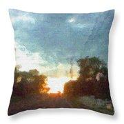 Third Sunset Throw Pillow