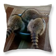 Thirsty Babies Throw Pillow