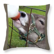 Thirsty Baby Throw Pillow