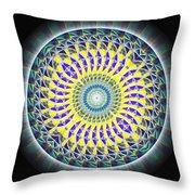 Thirteen Stage Alchemy Kaleidoscope Throw Pillow by Derek Gedney