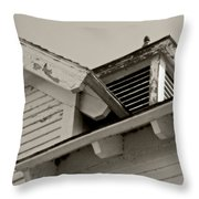 Thirty Mile Point Lighthouse Barn Throw Pillow