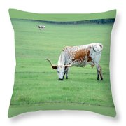 This Cow Is No Bull Throw Pillow