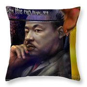 This Cup - The Reality That Was King Throw Pillow by Reggie Duffie