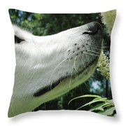 This Flower Smell Good Throw Pillow