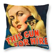 This Gun For Hire  Throw Pillow