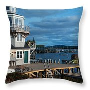 This Is A Lobster Village In New Throw Pillow