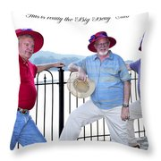 This Is Really The Big Belly Club Throw Pillow