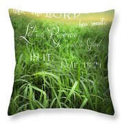 This Is The Day Throw Pillow