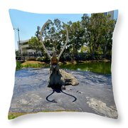 This Is The Pits Throw Pillow