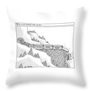 This Is What Happens When We Die -- A Train Throw Pillow