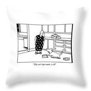 This Isn't Tap Water Throw Pillow by Bruce Eric Kaplan
