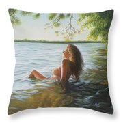 This Moment Now Throw Pillow