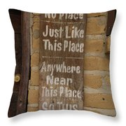 This Must Be The Place Throw Pillow by Gabe Arroyo