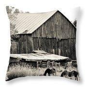 This Old Farm Throw Pillow