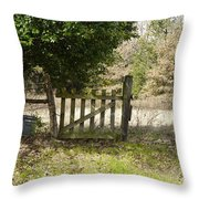 This Old Gate Throw Pillow