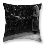 This Old Woman Was In Her Youth During The 1910-1920 Mexican Revolution Guadalajara Jalisco Mexico  Throw Pillow