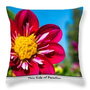 This Side Of Paradise Throw Pillow