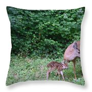 This Standing Up Is Hard Mom Throw Pillow