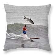 This Was My First Pee Shot  Throw Pillow