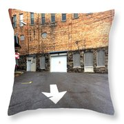 This Way Down Throw Pillow