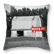 This Way To Mexico Throw Pillow