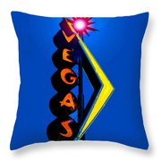This Way To Vegas Throw Pillow