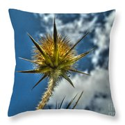 Thistle And Sky Throw Pillow