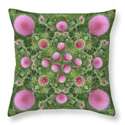 Thistle Star Mandala Throw Pillow