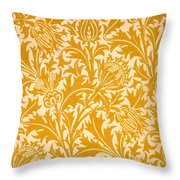 Thistle Wallpaper Design, Late 19th Throw Pillow