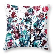 Thistle Throw Pillow by Zaira Dzhaubaeva