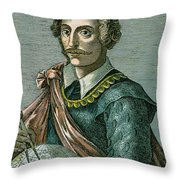 Thomas Cavendish (c1560-1592) Throw Pillow