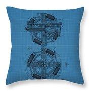 Thomas Edison Blueprint Phonograph Throw Pillow