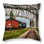 Thomas Edison Museum And Rr Track Throw Pillow