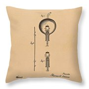 Thomas Edison Patent Application For The Light Bulb Throw Pillow