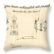 Thomas Edison Quote Throw Pillow