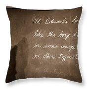 Thomas Edison's Boyhood School Throw Pillow