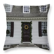 Thomas Everard House Williamsburg Throw Pillow