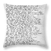Thomas Gray: Elegy, 1750 Throw Pillow