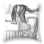 Thomas Hart Benton (1782-1858) Throw Pillow