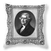 Thomas Jefferson Throw Pillow by Aged Pixel