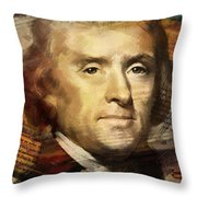 Thomas Jefferson Throw Pillow by Corporate Art Task Force