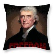 Thomas Jefferson Freedom Throw Pillow
