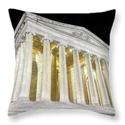 Thomas Jefferson Memorial At Night  Throw Pillow