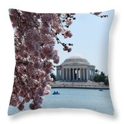Thomas Jefferson Memorial Throw Pillow