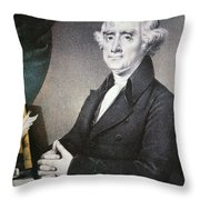 Thomas Jefferson Throw Pillow by Nathaniel Currier