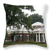 Thomas Jeffersons Monticello Throw Pillow