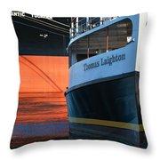 Thomas Laighton In Port Throw Pillow