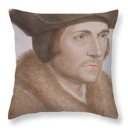 Thomas More Throw Pillow by Hans Holbein the Younger